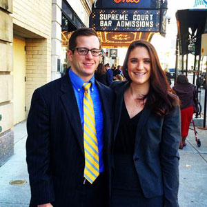 Alyssa Landino, JD '15 and John Moscarino, JD '15