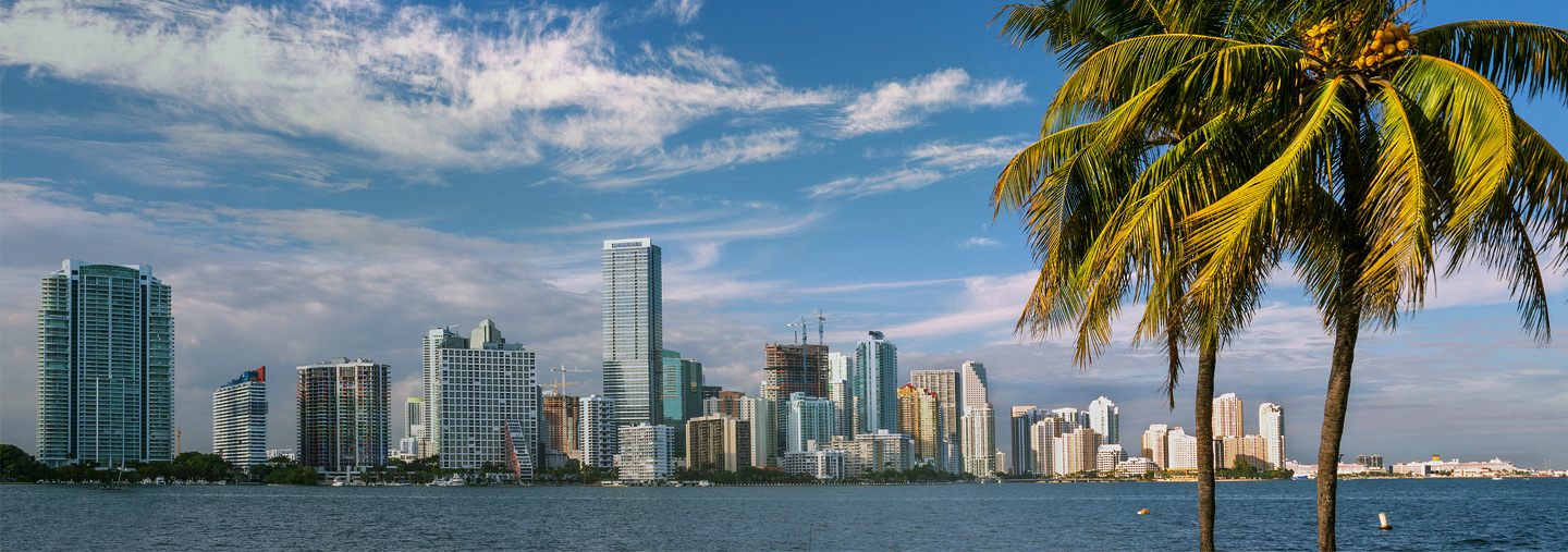 shot of downtown Miami
