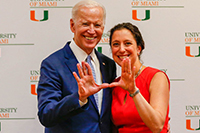 Carrie Bettinger Lopez with Joe Biden