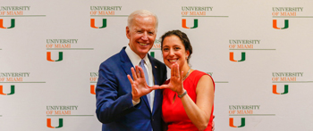 Joe Biden and Caroline Bettinger-Lopez