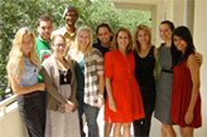 Miami Law Human Rights Clinic students with Professor Bettinger-López