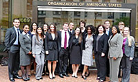 Clinic students attend working meetings before the Inter-American Commission on Human Rights on Deportations to Haiti.