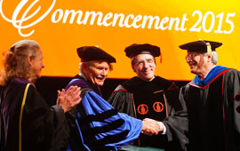 Professor Dennis Lynch Honored During Commencement