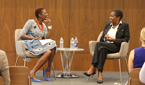 Acting Dean Osamudia James and Michele Roberts