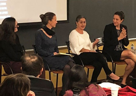 Professor Carrie Bettinger-Lopez in a panel discussion
