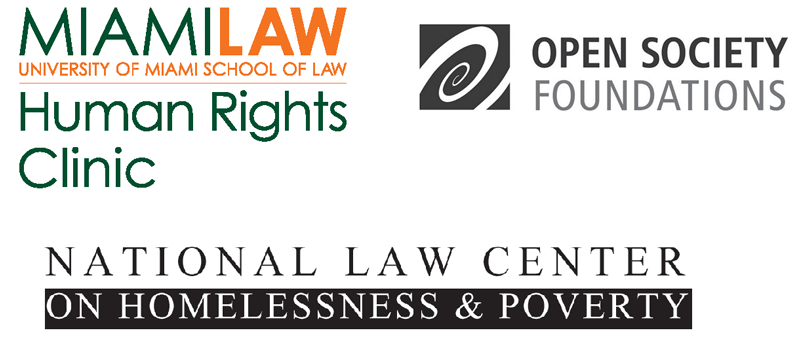Sponsors: Human Rights Clinic, Open Society Foundations, National Law Center on Homelessness & Poverty