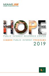 HOPE Summer Public Interest Programs 2019