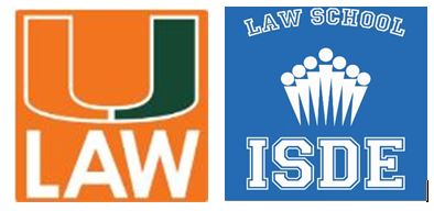 2 logos, Miami law and ISDE