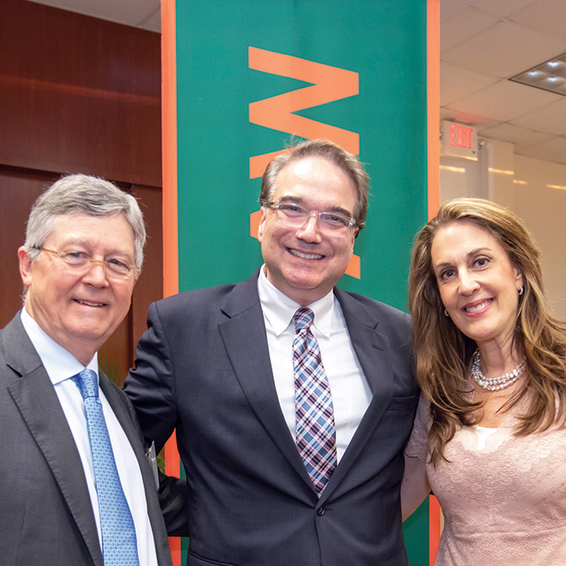 Keith Wold, LL.M. '17, Dean Anthony Varona & Jennifer Heller Wold