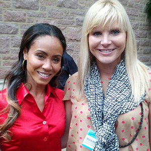 """Miami Law student Tricia Robinson with actress Jada Pinkett Smith, champion of """"Don't Sell Bodies"""" campaign. (Photo: Provided to Miami Law)"""