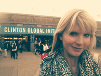 Miami Law student Tricia Robinson at the Clinton Global Initiative University Conference. (Photo: Provided to Miami Law)