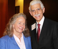 Miami Law Dean Patricia D. White with Jose I. Astigarraga, J.D. '78, who received the Lawyer of the Americas honor in 2005. (Photo: Nick Madigan/Miami Law)