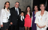 Horacio Gutiérrez, deputy general counsel at Microsoft, with his wife, Morella, at left, their two children and other relatives. (Photo: Nick Madigan/Miami Law)