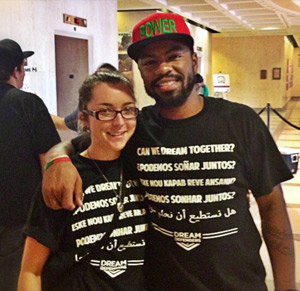 Leah Weston with Dream Defenders Executive Director, Phillip Agnew. (Photo: Miami Law)