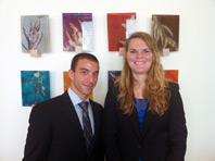 PREP students Matan Scheier and Stacy Byrd at Cuban American Bar Association CLE ethics presentation. (Photo: Miami Law)