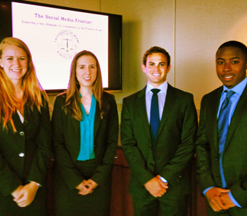 PREP students Danielle Singer, Christina Flatau, Jackson Siegal and Julien Apollon (Photo: Miami Law)