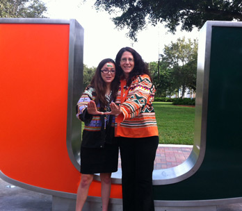 3L Leah Weston with Assistant Dean Marni Lennon (Photo: Miami Law)