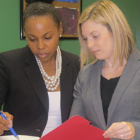 Nicole Ramos (L) and Emerald Williams (R) (Photo: Miami Law