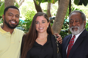 Phillip Agnew, Jasmine Rand, and H.T. Smith (Photo: Miami Law)