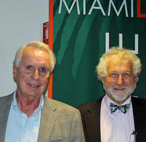 Professor James Nickel and Dan Magraw (Photo: Miami Law)