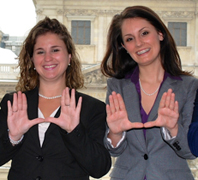 Bianca Olivadoti and Gabriela Pirana (Photo: Miami Law)