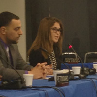 Charlotte Cassel speaking at the Inter-American Commission on Human Rights
