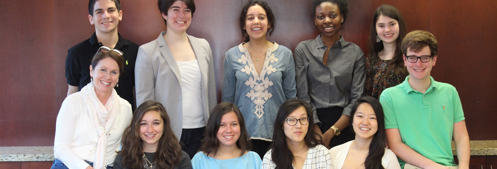 Dartmouth students Terren Klein, Evelyn Weinstein, Sarah Zmarrou, Isabella Coleman, and Marine Shkuratov