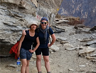 Miami Law student Elyssa Luke with RSMAS student in Tiger Leaping Gorge