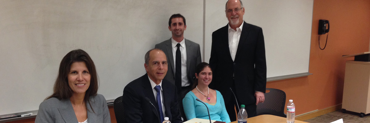 From left to right Carolyn Ansay, John Barkett, Robert Bernstein, Jane Graham, and Gary Winston