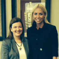 Whitney Kouvaris with Judge Barbara Lagoa