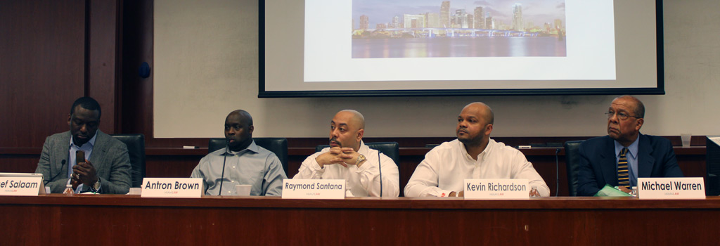 Central Park Five exonerees at Miami Law
