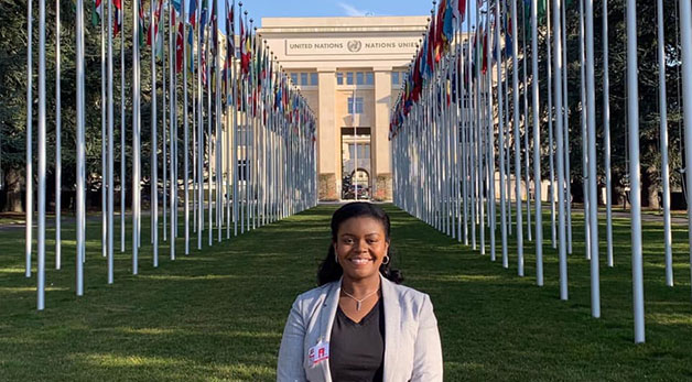 Clinic student at the United Nations