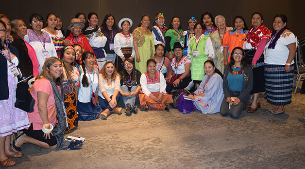 Group of indigenous women from Mexico