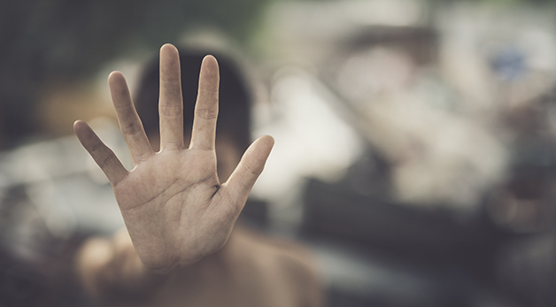 image of a hand reaching out