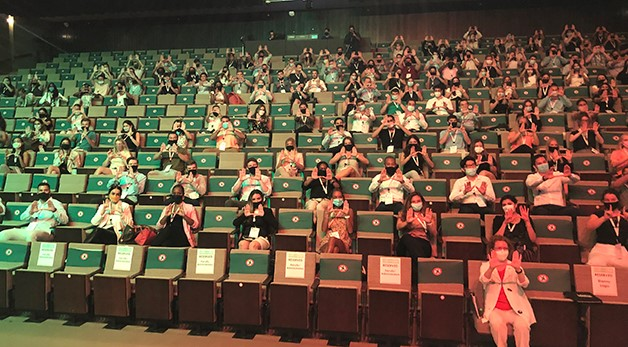 students in fall orientation