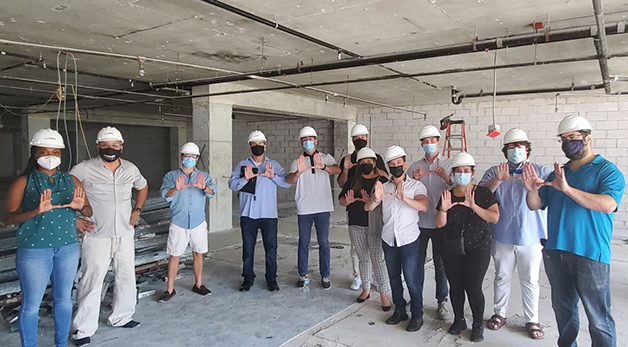 RPD students at construction site